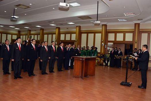 Sekjen Kemhan Melantik Pejabat Eselon I dan II di Lingkunan Kemhan