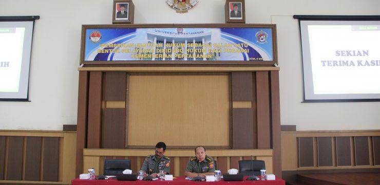 Pegawai di Lingkungan Unhan dan Bainstranas Kemhan Mendapat Penyuluhan Hukum terkait Peraturan Menhan Nomor 22 tahun 2012 tentang Bantuan Hukum di Lingkungan Kemhan
