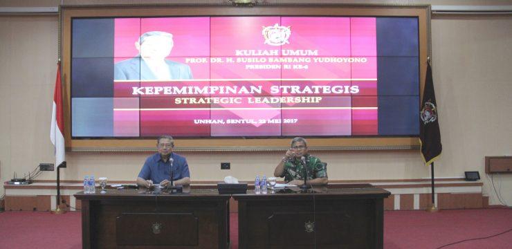 Prof. Dr. H. Susilo Bambang Yudhoyono Presiden RI ke-6 berikan Kuliah Umum di Unhan