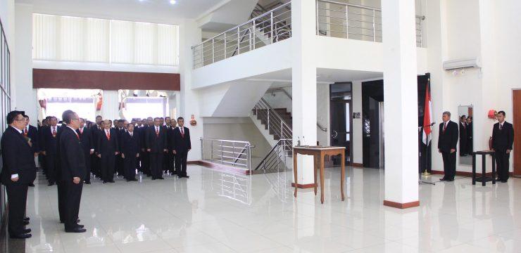 Rektor Lantik Warek II Bidang Umum dan Keuangan Unhan dan Ketua LP3M Unhan