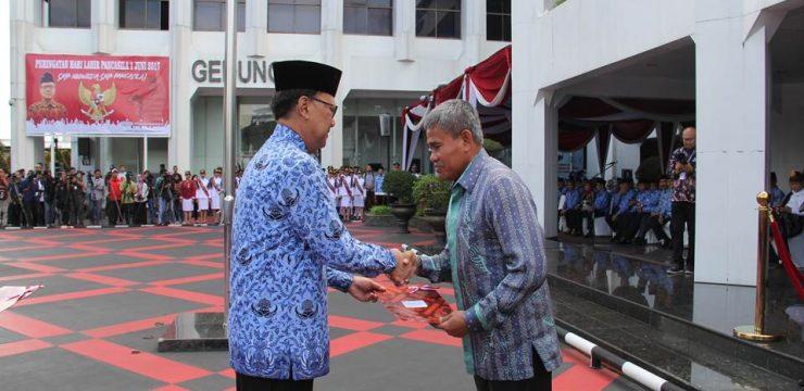 Rektor Unhan Hadiri Acara Peringatan Hari Lahirnya Pancasila  di Kementerian Dalam Negeri