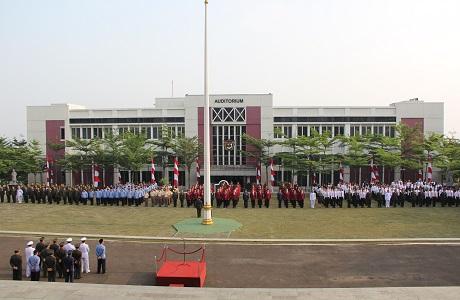 Universitas Pertahanan (Unhan) Laksanakan  Upacara Memperingati Hari Ulang Tahun Ke-72 Kemerdekaan RI Tahun 2017