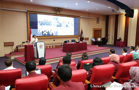Mahasiswa Unhan Menerima Kuliah Umum dari Menteri Luar Negeri RI Retno L.P. Marsudi