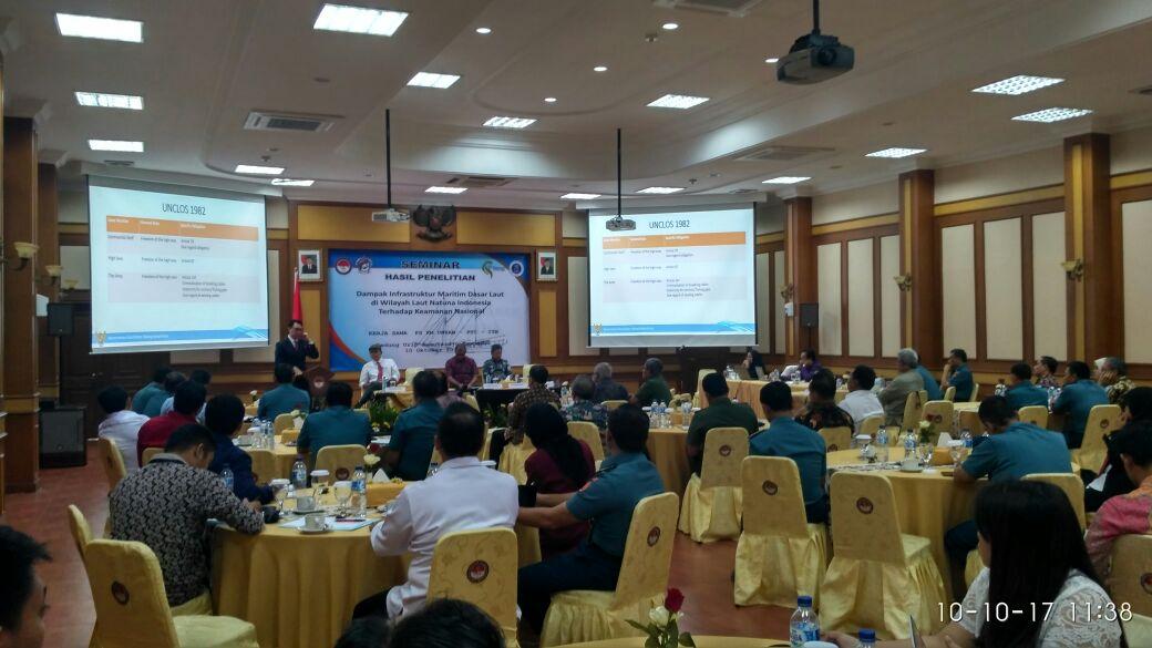 Fakultas Keamanan Nasional Unhan Gelar Seminar Hasil Penelitian Pusat Studi Keamanan Maritim dengan Prof Dr. Purnomo Yusgiantoro Center serta Institut Teknologi Bandung (ITB)