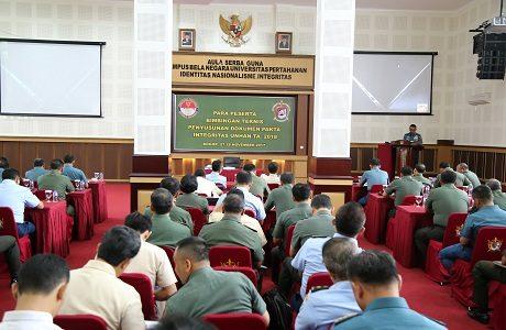 Unhan Laksanakan Bimbingan Teknis (Bimnis) Penyusunan Dokumen Pakta Integritas Unhan TA. 2018