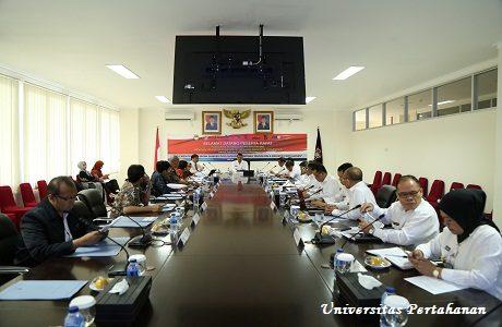 Fakultas Teknologi Pertahanan (FTP) Unhan Rapat Bersama Pimpinan Bumnis Tentang Kebijakan SDM Bidang Teknologi dan Industri Pertahanan