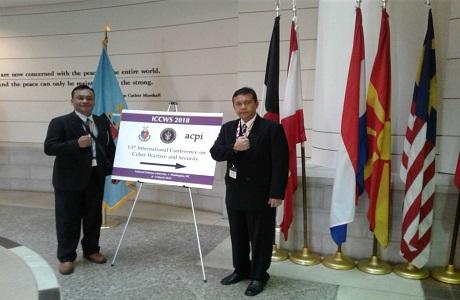 Prestasi Dosen Unhan Tampil pada International Conference on Cyber Warfare & Security 2018 (ICCWS 2018) di NDU Washington DC, Amerika Serikat