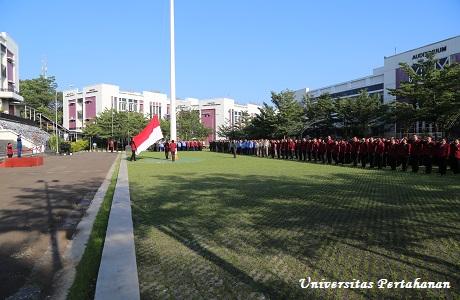 Universitas Pertahanan Laksanakan Upacara Hari Lahir Pancasila Tahun 2018