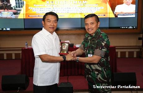 Mahasiswa Unhan Terima Kuliah Umum dari Kepala Staf Kepresidenan RI  Jenderal TNI (Purn) Dr. Moeldoko