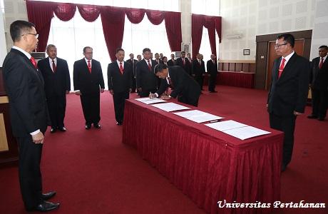 Plt Rektor Unhan Pimpin Pelantikan dan Pengambilan Sumpah Jabatan Dosen dan Pejabat Eselon III Unhan