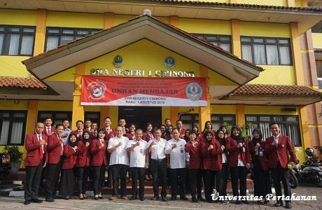 Mahasiswa Prodi Damai dan Resolusi Konflik Fakultas Keamanan Nasional Unhan Melaksanakan Unhan Mengajar