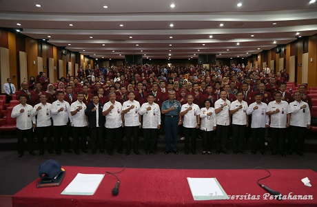 Mahasiswa Unhan Terima Kuliah Umum dari Kapushidrosal