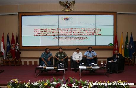Fakultas Teknologi Pertahanan Unhan Gelar Seminar Umum Kemandirian Industri Pertahanan