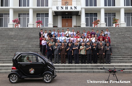 Fakultas Teknologi Pertahanan Unhan Kembangkan Rancang Model Sistem Mobil Listrik dan Sistem Drone Penginderaan
