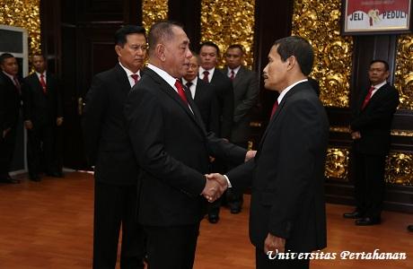 Menhan RI Lantik Rektor Unhan Mayjen TNI Dr. Tri Legionosuko, S.IP., M.A