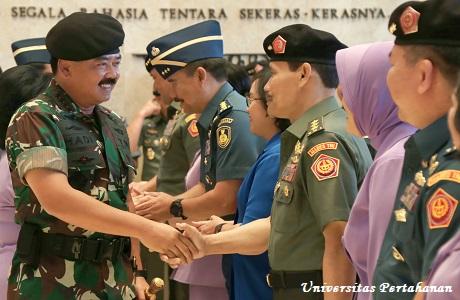 Rektor Unhan Bersama 50 Orang Pati Jajaran TNI  Melaksanakan Laporan Korps Kepada Panglima TNI