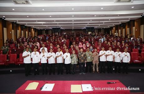 Mahasiswa Unhan Terima Kuliah Umum tentang Prespektif Pertahanan Negara dari aspek Peran Pasar Modal