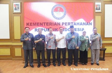 """Menhan RI Silaturahmi dengan Rektor dan Dosen Unhan,  UPN """"Veteran"""" Jakarta, Yogyakarta dan Surabaya"""