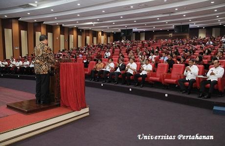 Mahasiswa Unhan  Terima Kuliah Umum dari  Laksamana TNI (Purn) Prof. Dr. Marsetio