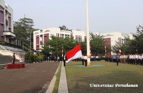 Unhan Lakasanakan Upacara Bulanan 17 September, Menhan Tekankan Bela Negara Sebagai Komitmen Membangun NKRI