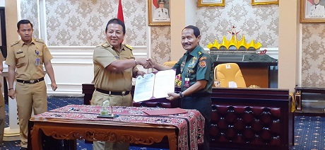 Rektor Unhan Laksanakan Penandatanganan Perpanjangan MoU Unhan dengan Pemerintah Provinsi Lampung
