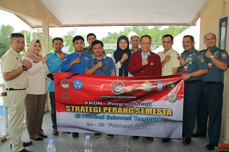 Fakultas Strategi Pertahanan Unhan Laksanakan KKDN di Kendari-Sulawesi Tenggara