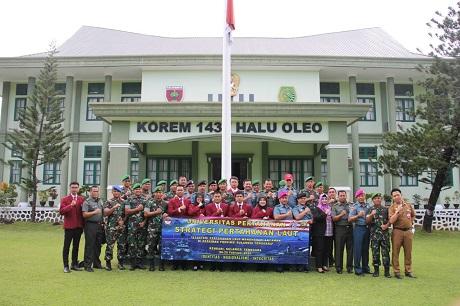 Civitas Akademika Fakultas Strategi Pertahanan Unhan Lanjutkan Penelitian KKDN di Kendari