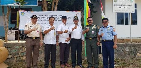 Mahasiswa Fakultas Teknologi Pertahanan Unhan bersama LPPM Unhan dan Universitas Batam Laksanakan Pengabdian Kepada Masyarakat di Kelurahan Setokok Batam