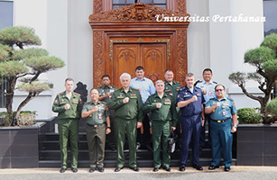 Unhan Terima Kunjungan Chief of The Military Academy Of The General Staff Of The Russian Armed Forces