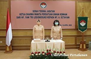 Sertijab Ketua Dharma Wanita Persatuan (DWP) Unhan Dilaksanakan di Kemhan