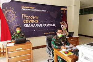 """Unhan Selenggarakan Seminar Umum melalui Video Comference: """"Penanggulangan Bencana Wabah COVID-19 di Indonesia dalam Perspektif Keamanan Nasional"""""""