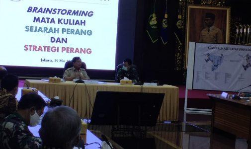Menhan RI Bahas Sejarah Perang dan Strategi Perang Bersama Rektor Unhan dan Dosen Unhan