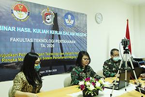 Fakultas Teknologi Pertahanan Melaksanakan Webinar Hasil KKDN