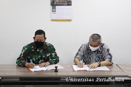 Penandatanganan Perjanjian Kerjasama Pembentukan Prodi Sarjana Ilmu Sarjana Farmasi Unhan dengan Fakultas Fisip UI
