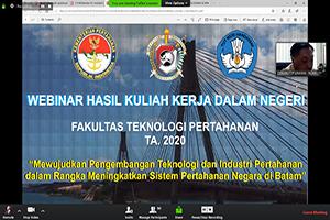 Fakultas Teknologi Pertahanan Unhan Laksanakan Webinar Hasil KKDN