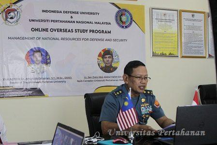 Webinar KKLN FMP Unhan dan  Univesitas Pertahanan Nasional Malaysia (UPNM)  bahas peran Manajemen Pengelolaan Sumberdaya Nasional