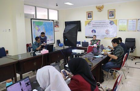 Mahasiswa FMP Unhan KKLN Online dengan Universitas Pertahanan Nasional Malaysia (UPNM)