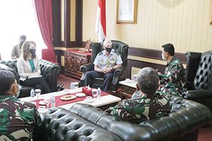 Rektor Unhan Terima Kunjungan Group Captain Cal Harrison, Acting Australian Defence Attache