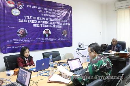 Focus Group Discussion FTP Pusat Studi Industri Pertahanan Unhan