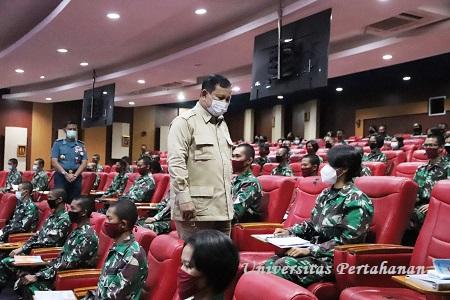 Menhan RI Prabowo Subianto Berikan Kuliah Umum kepada Kadet Mahasiswa S1 Unhan