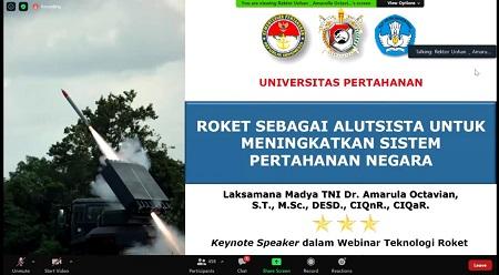 Webinar Fakultas Teknologi Pertahanan dan LAPAN urai pengembangan Teknologi Roket