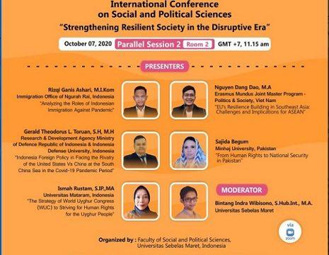 Mahasiswa Program Doktoral Ilmu Pertahanan Unhan Memperoleh Peringkat Best Paper pada International Conference on Social and Political Sciences (ICOSAPS)