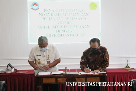 MoU Universitas Pertahanan RI dengan Universitas Pakuan