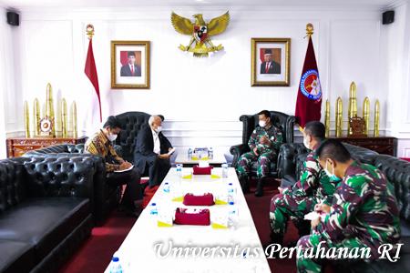 Rektor Unhan RI Terima Kunjungan Ketua Yayasan PETA Pusat