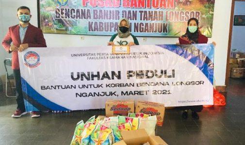 Unhan RI Peduli Bencana Berikan Bantuan Sosial Bagi  Korban Banjir dan Tanah Longsor di Kabupaten Nganjuk-Jawa Timur