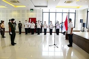 Unhan RI Laksanakan Upacara Laporan Kenaikan Pangkat TNI dan PNS yang Naik Pangkat Pada Tanggal 1 April 2021