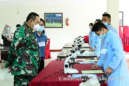 Kadet Mahasiswa S1 Fakultas Kedokteran Militer Unhan RI Laksanakan Ujian Objective Structured Practical Examination (OSPE)