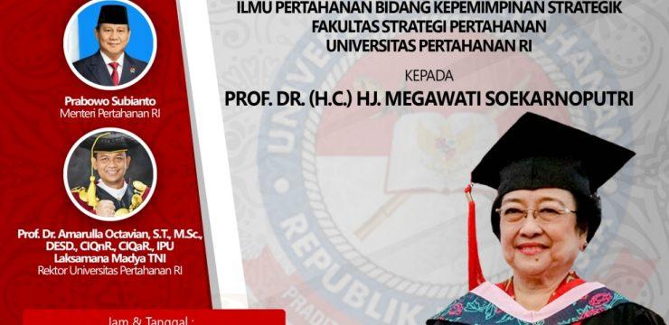 Universitas Pertahanan Republik Indonesia Bakal Beri Gelar Profesor Kehormatan kepada Presiden ke-5 RI Megawati Soekarnoputri