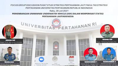 Prodi Strategi Pertahanan Laut FSP Unhan RI Focus Group Discussion integrasi Kecerdasan Buatan (AI) dan Sistem Otonom (AS) dalam Memperkuat Strategi Pertahanan Laut di Indonesia.