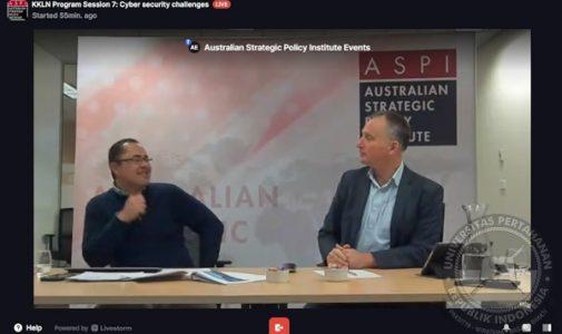 Kuliah Kerja Luar Negeri (KKLN) Mahasiswa Unhan RI Bersama ASPI bahas Australian Cyber Security Challenges dan Maritime Security